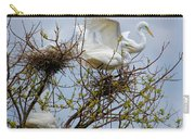Great Egrets, Nest Building Carry-all Pouch
