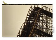 Great White Roller Coaster - Adventure Pier Wildwood Nj In Sepia Triptych 1 Carry-all Pouch
