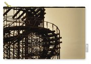 Great White Roller Coaster - Adventure Pier Wildwood Nj In Sepia Triptych 3 Carry-all Pouch
