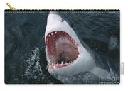 Great White Shark Jaws Carry-all Pouch by Mike Parry