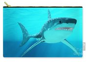 Great White Shark With Sunrays Carry-all Pouch