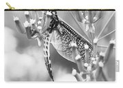 Great Wings  Black And White Dragonfly Carry-all Pouch