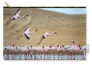 Greater Flamingos Phoenicopterus Carry-all Pouch