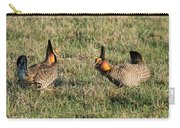 Greater Prairie Chicken Males 3 Carry-all Pouch