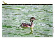 Grebe On Green Water Carry-all Pouch