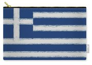 Greek Flag Smudged Carry-all Pouch