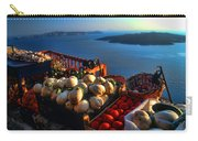Greek Food At Santorini Carry-all Pouch by David Smith