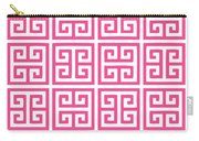 Greek Key With Border In French Pink Carry-all Pouch