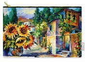 Greek Noon - Palette Knife Oil Painting On Canvas By Leonid Afremov Carry-all Pouch