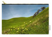 Green 4 Flowers Carry-all Pouch