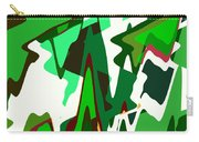 Green Abstract Squared #2 Carry-all Pouch