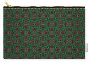 Green And Brown Chunky Cross Mirror Pattern Carry-all Pouch