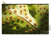 Green And Orange Leaf Carry-all Pouch