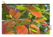 Green And Orange Leaves Carry-all Pouch