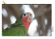 Green And Red Conure With Ruffled Feathers Carry-all Pouch