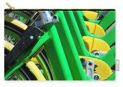 Green And Yellow Bicycles Carry-all Pouch