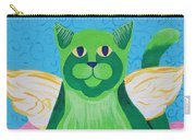 Green Angel Cat Carry-all Pouch
