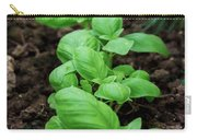 Green Arugula Growing In The Garden Carry-all Pouch