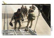 Green Berets Board A C-130h3 Hercules Carry-all Pouch