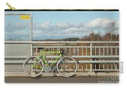 Green Bicycle On Bridge Carry-all Pouch