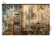Green Bike Crooked Door Carry-all Pouch