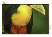Green-billed Toucan Perched On Branch In Jungle Carry-all Pouch