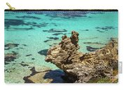 Green Blue Ocean Water And Rocks Carry-all Pouch