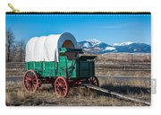 Green Covered Wagon Carry-all Pouch