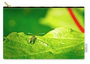 Green Creature On A Broad Leaf. Carry-all Pouch