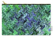 Green Crystal Digital Abstract Carry-all Pouch