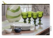 Green Decor Dinning Table Place Settings Carry-all Pouch