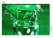 Green Dice Splash Carry-all Pouch
