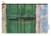 Green Door In Burano Carry-all Pouch