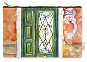 Green Door In Venice Italy Carry-all Pouch