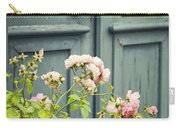 Green Door With Rosebush Carry-all Pouch