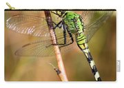 Green Dragonfly Closeup Carry-all Pouch by Carol Groenen