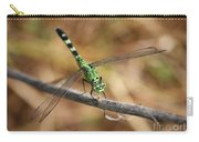 Green Dragonfly On Twig Carry-all Pouch