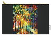 Green Dreams - Palette Knife Oil Painting On Canvas By Leonid Afremov Carry-all Pouch