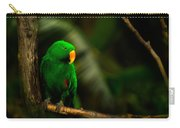 Green Eclectus Parrot Male Carry-all Pouch
