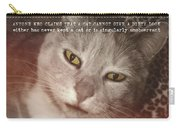 Green Eyed Glare Quote Carry-all Pouch