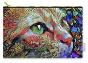 Green Eyed Orange Cat Dreaming Carry-all Pouch