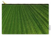 Green Fan - Radiating Lines And Scattered Polka-dots Carry-all Pouch