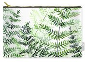 Green Fern Leaves Carry-all Pouch