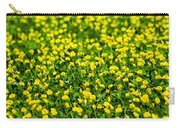 Green Field Of Yellow Flowers 2 1 Carry-all Pouch
