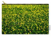 Green Field Of Yellow Flowers 3 Carry-all Pouch