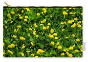 Green Field Of Yellow Flowers 4 Carry-all Pouch