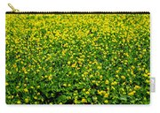 Green Field Of Yellow Flowers Carry-all Pouch