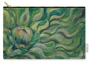 Green Flowing Flower Carry-all Pouch