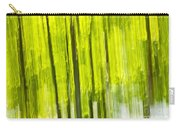Green Forest Abstract Carry-all Pouch by Elena Elisseeva