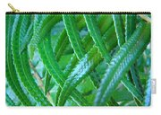 Green Forest Fern Fronds Art Prints Baslee Troutman Carry-all Pouch